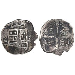 Mexico City, Mexico, cob 4 reales, Philip IV, assayer D.
