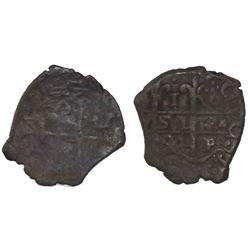 Potosi, Bolivia, cob 1 real, 1694VR, Christie's Plate Coin.