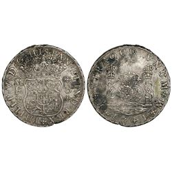 Mexico City, Mexico, pillar 8 reales, Philip V, 1741MF.