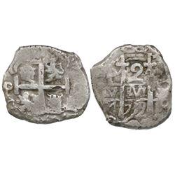 Potosi, Bolivia, cob 2 reales, 1739M.