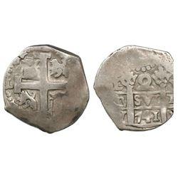 Lima, Peru, cob 2 reales, 1741V.