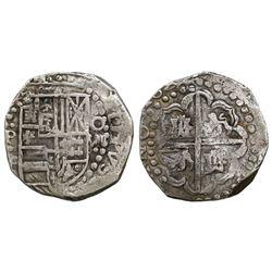 Potosi, Bolivia, cob 8 reales, Philip IV, 1628T, ex-Panama hoard.
