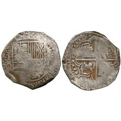 Potosi, Bolivia, cob 4 reales, Philip III, assayer Q, ex-Panama hoard.