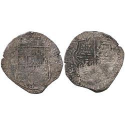 Potosi, Bolivia, cob 4 reales, 1617M.