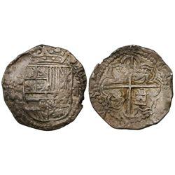 Potosi, Bolivia, cob 2 reales, Philip III, assayer Q.