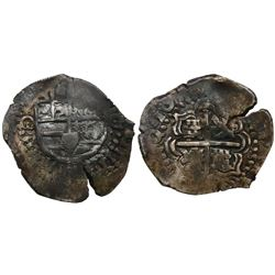 Potosi, Bolivia, cob 2 reales, 165(0-1)O.