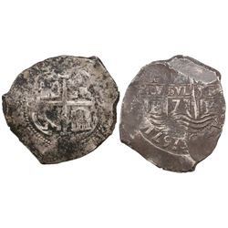 Potosi, Bolivia, cob 8 reales, 1671E, ex-Gardini.