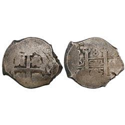 Potosi, Bolivia, cob 8 reales, 1705Y.