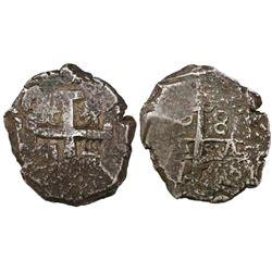 Potosi, Bolivia, cob 8 reales, 1768(V)-Y.