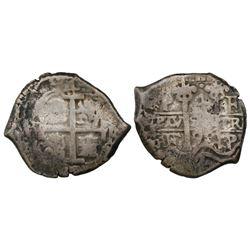 Potosi, Bolivia, cob 4 reales, 1698F.