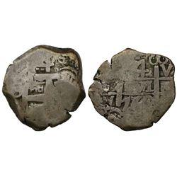 Potosi, Bolivia, cob 4 reales, 1760V-Y.