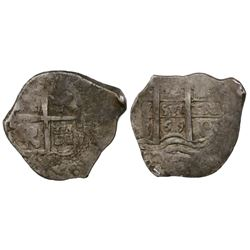 Potosi, Bolivia, cob 2 reales, 1669E.