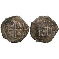 Potosi, Bolivia, cob 2 reales, 1689VR.