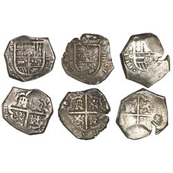 Lot of 3 Seville, Spain, cob 4 reales, Philip III and IV, one dated 1612.