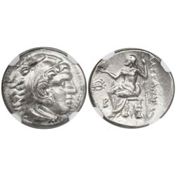 Kingdom of Macedon, AR drachm,  Alexander III ( the Great ), 336-323 BC, Magnesia mint, struck 318-3