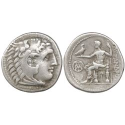 "Kingdom of Macedon, AR drachm, Demetrios I Poliorketes in the name and types of Alexander III (""the"
