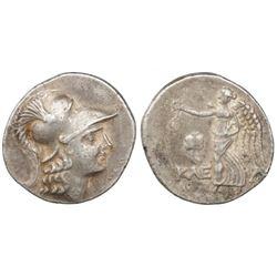 Pamphila, Side, AR tetradrachm, ca.155–36 BC, Athena / Nike.