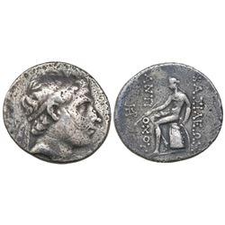 Seleukid Kingdom, AR tetradrachm, Antiochus III, 223-187 BC.