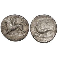 Sikyonia, Sikyon, AR hemidrachm, ca. 360-330 BC.