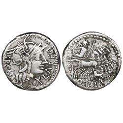 Roman Republic, AR denarius, Q. Fabius Labeo, 124 BC, Rome mint.