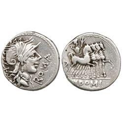 Roman Republic, AR denarius, Cn. Domitius Ahenobarbus, 116-115 BC, Rome mint.