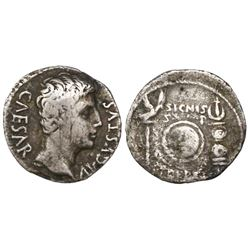 Roman Empire, AR denarius, 27 BC-14 AD, Augustus, uncertain Spanish mint (Colonia Patricia?), struck
