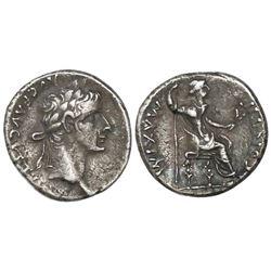 Roman Empire, AR denarius,  tribute penny,  Tiberius, 14-37 AD, Lugdunum mint, struck 18-35 AD.