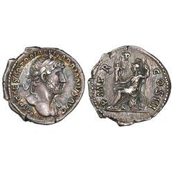 Roman Empire, AR denarius, Hadrian, 117-138 AD, struck circa 128 AD.