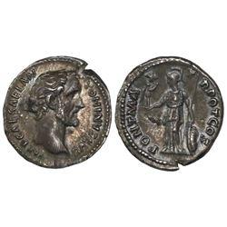 Roman Empire, AD denarius, Antoninus Pius, 138-161 AD, Rome mint, struck 138 AD.