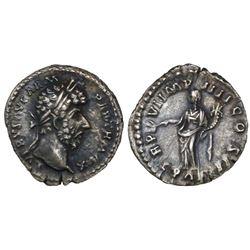 Roman Empire, AR denarius, Lucius Verus, 161-169 AD, Rome mint, struck 166 AD.