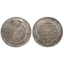 Brazil (Rio mint), 320 reis, Joao VI, 1820-R.