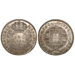 Brazil (Rio mint), 640 reis, Joao VI, 1821-R.