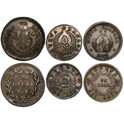 Lot of 3 Bogota, Colombia, 1R: 1833, 1847 and 1852.
