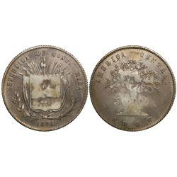 Costa Rica, 50 centavos, 1875GW, ex-Mayer.