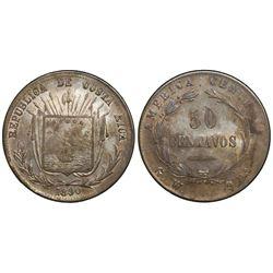 Costa Rica, 50 centavos, 1890GW