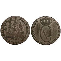 Danish West Indies, 12 skilling, Christian VII, 1767.