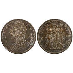 Danish West Indies, 20 cents (1 franc), Christian IX, 1905.
