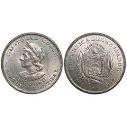 El Salvador, 1 peso, 1908CAM