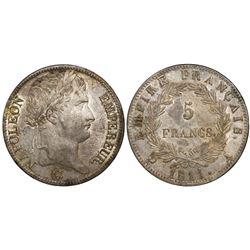 France (Paris mint), 5 francs, Napoleon I, 1811-A.