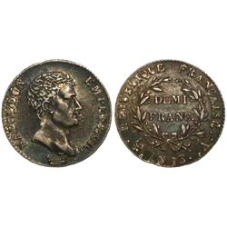 France (Paris mint), 1/2 franc, Napoleon I, AN 13 (1804/1805), mintmark A.