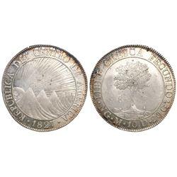 Guatemala (Central American Republic), 8 reales, 1827M.