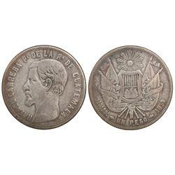 Guatemala, 1 peso, 1859, Carrera.