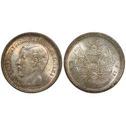 Guatemala, 2 reales, 1867R, Carrera.