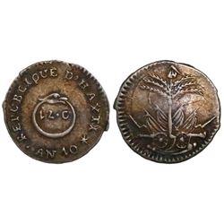 Haiti, 12 centimes, AN 10 (1813).