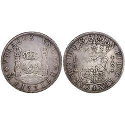 Mexico City, Mexico, pillar 8 reales, Charles III, 1771FM.