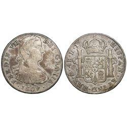 Mexico City, Mexico, bust 4 reales, Ferdinand VII, 1809HJ.