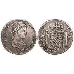 Durango, Mexico, bust 8 reales, Ferdinand VII, 1815MZ.