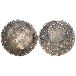 Durango, Mexico, bust 8 reales, Ferdinand VII, 1818RM.