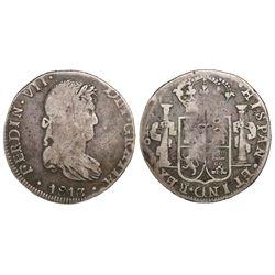 Guanajuato, Mexico, bust 8 reales, Ferdinand VII, 1813JJ.