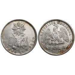 Chihuahua, Mexico, 1 peso, 1872/1M.